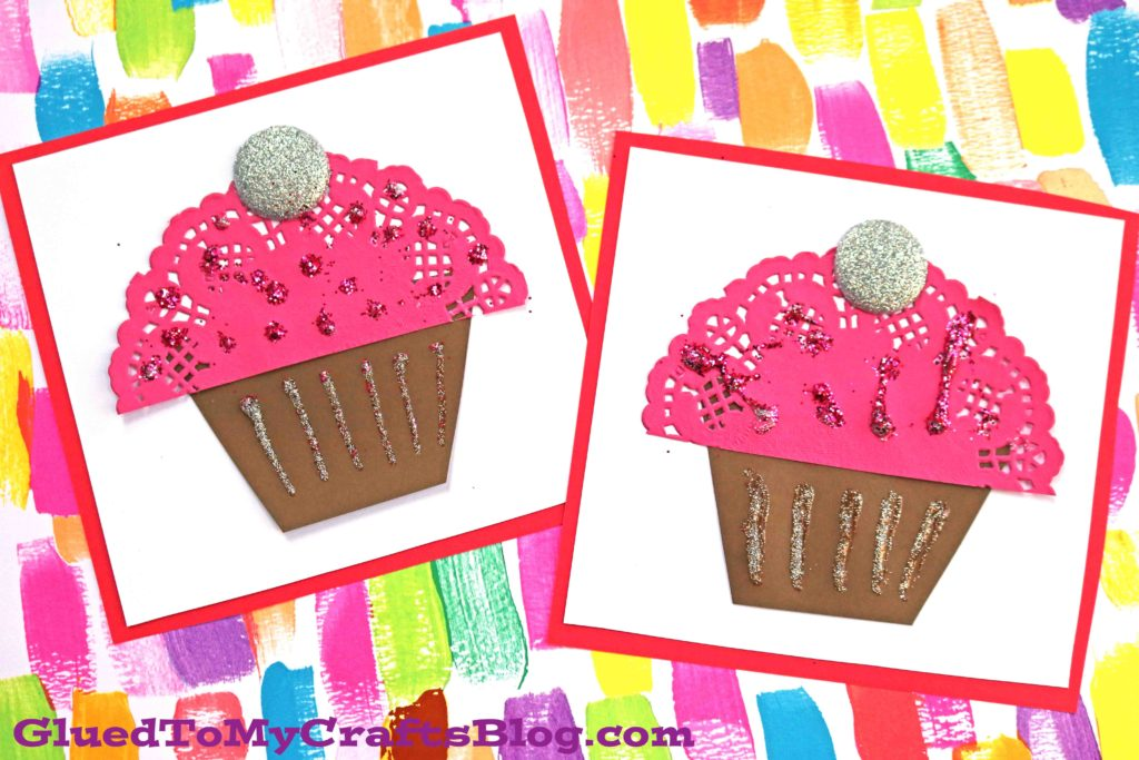 Paper Doily Cupcake Cards For Valentine's Day