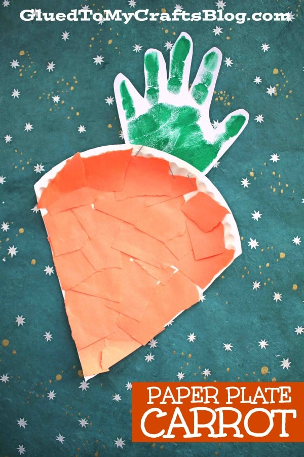 Super Easy Paper Plate Carrot - Easter Kid Craft