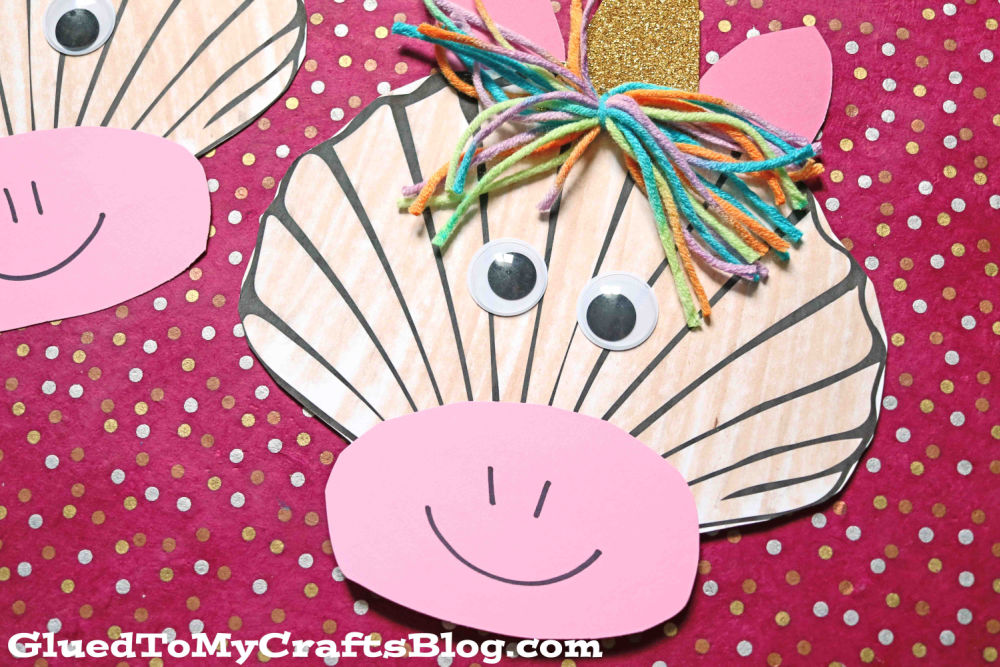 Paper Seashell Unicorn Craft For Kids To Make This Summer