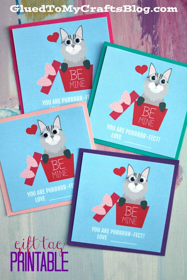 You Are Purr-Fect - Be Mine Valentine Printable