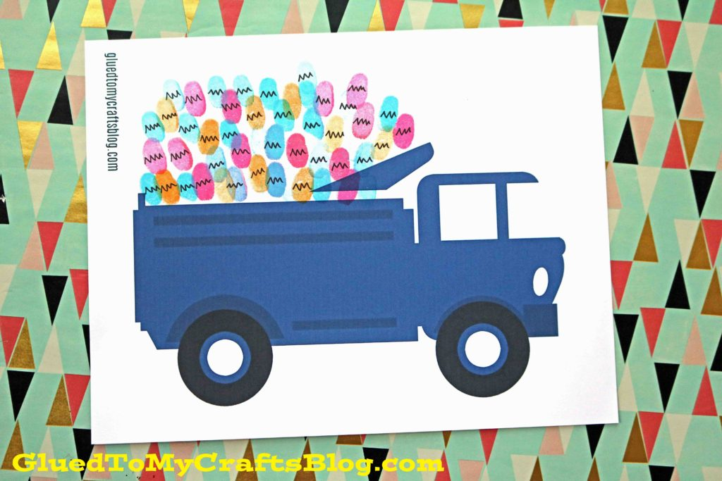 Thumbprint Easter Eggs in Farm Truck - Free Printable