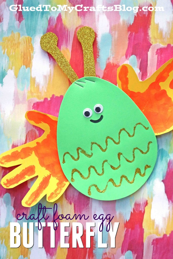 Craft Foam Egg Butterfly Kid Craft