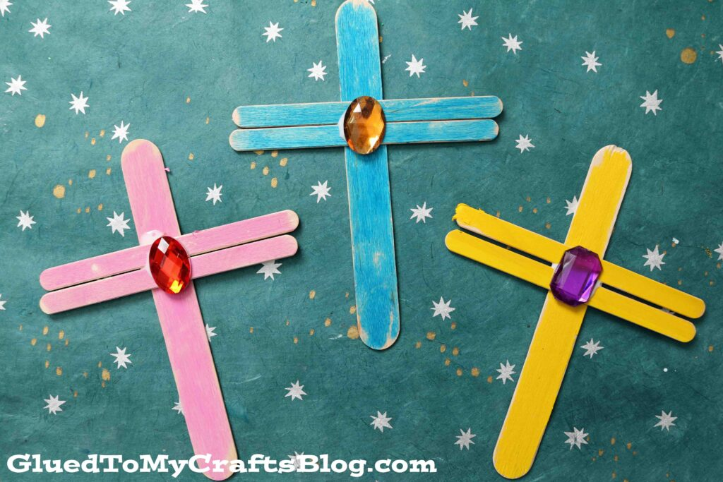 Popsicle Stick Crosses - Kid Craft Idea For Easter