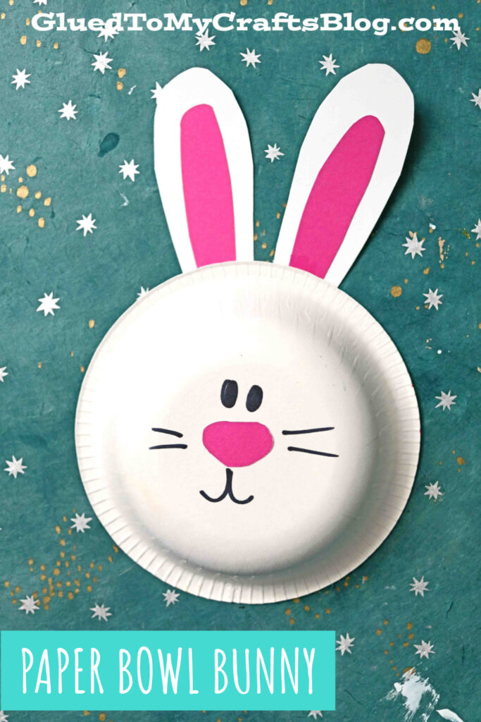Turn A Simple Paper Bowl Into A Bunny Craft For Kids!