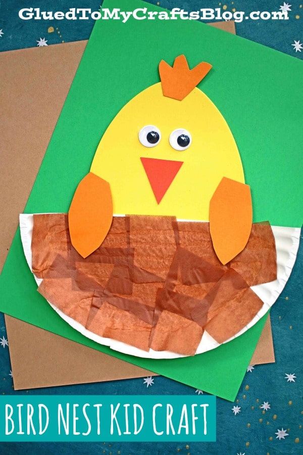 Paper Plate & Craft Foam Egg Bird In Nest - Kid Craft