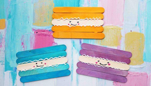 Popsicle Stick Macaroon Friends - Kid Craft