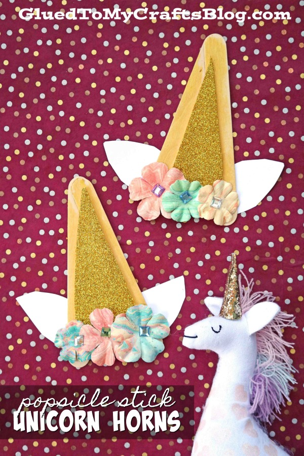Popsicle Stick Unicorn Horns - Kid Craft