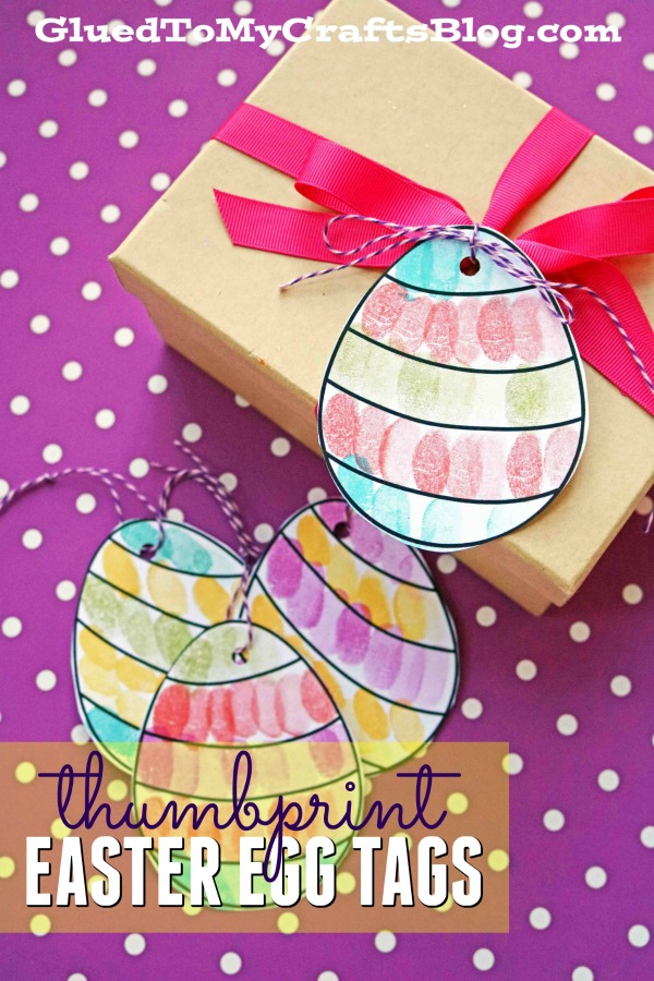 Thumbprint Easter Egg Gift Tags - Free Template