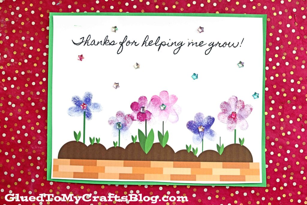 Thanks For Helping Me Grow Craft Idea For Kids To Make