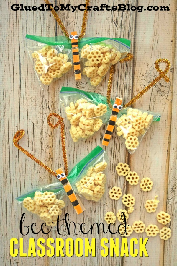 Honeycomb Cereal Bee Themed Classroom Snack Idea
