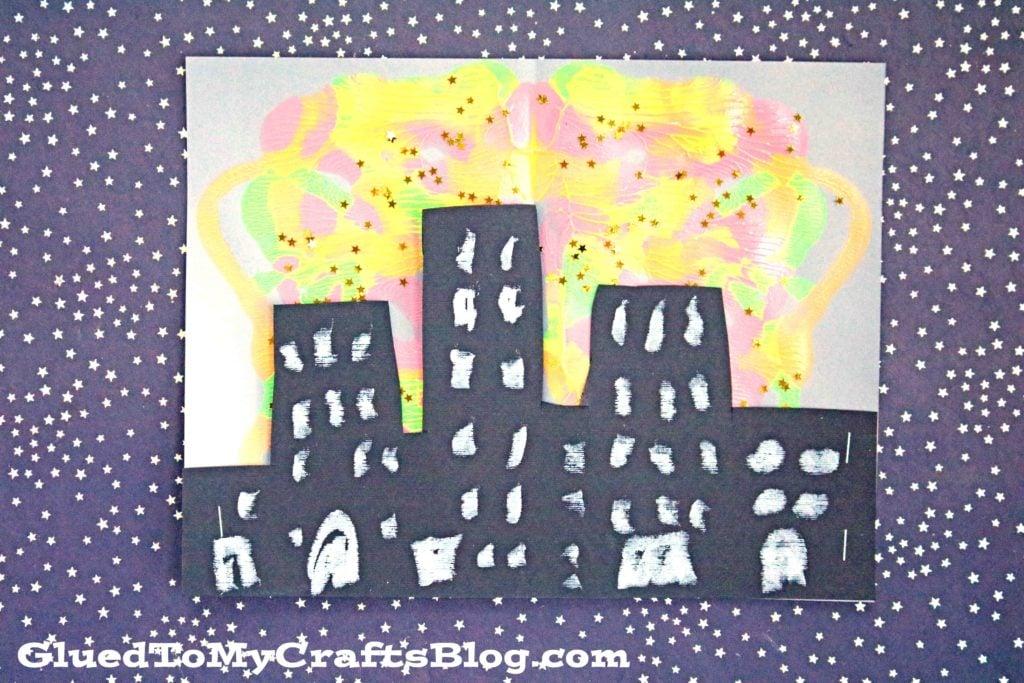 Paint Splat City Skyline Silhouette - Kid Craft