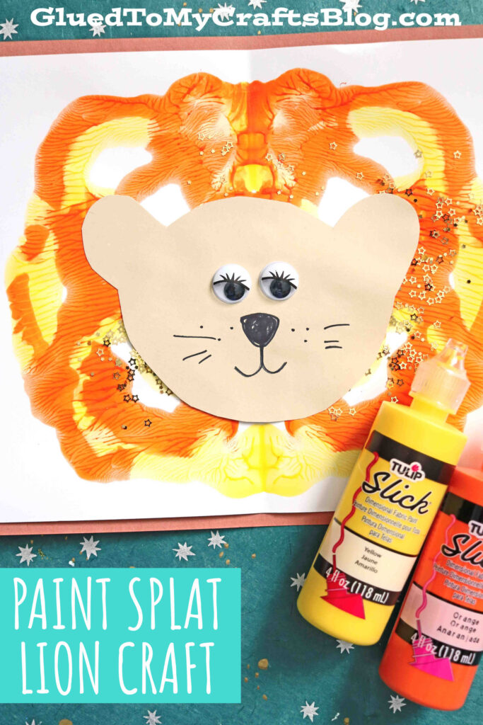 Paper & Paint Splat Lions - Kid Craft Tutorial