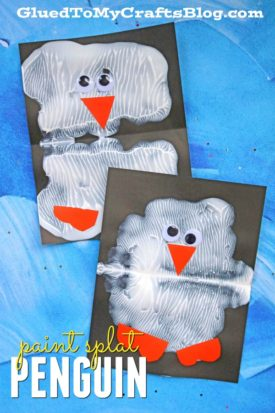 Paint Splat Penguin Friends - Kid Craft