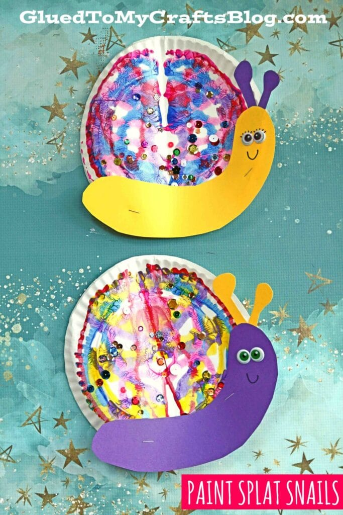 Paper Plate & Paint Splat Snails - Kid Craft Idea