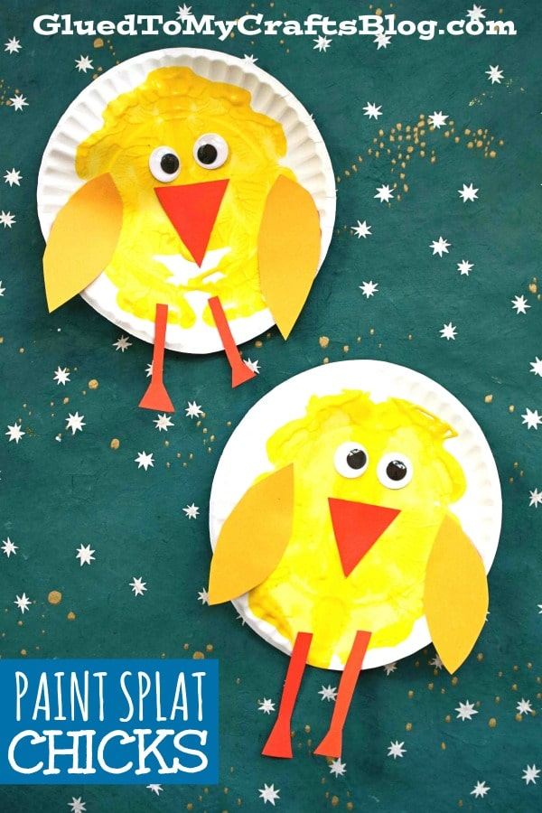 Paper Plate & Paint Splat Baby Chick - Spring Kid Craft