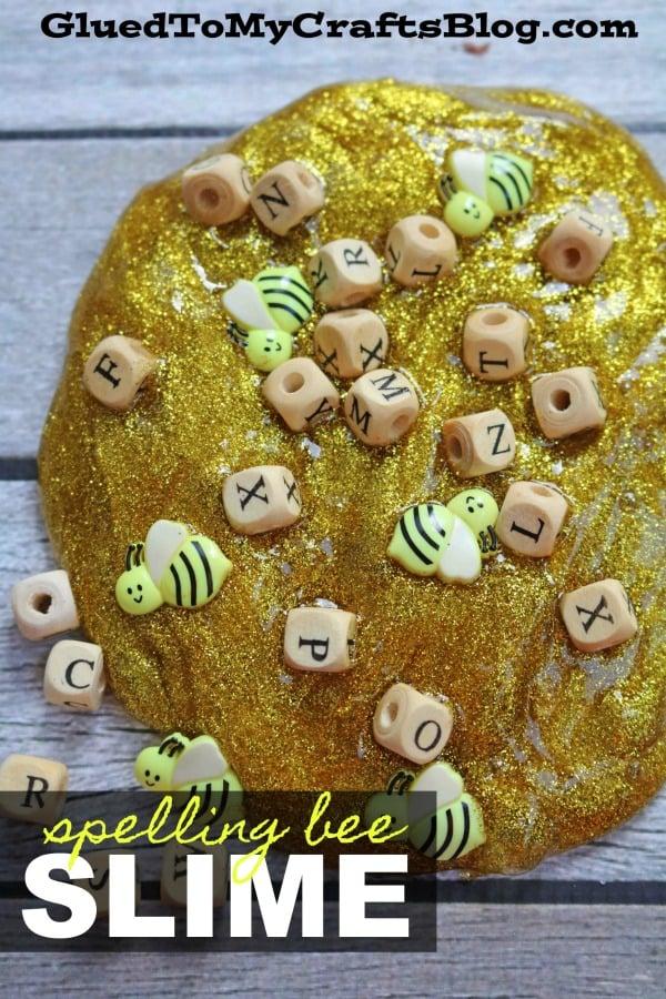Spelling BEE Slime Recipe - Kid Craft