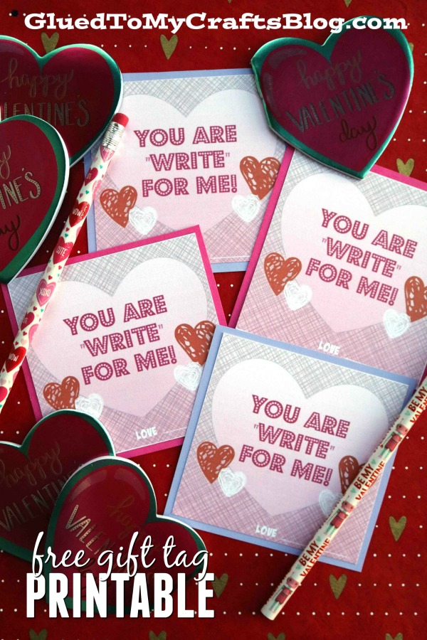 """""""Write"""" For Me - Valentine's Day Gift Tag Printable"""