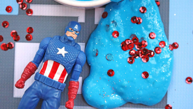 Captain America Inspired Slime