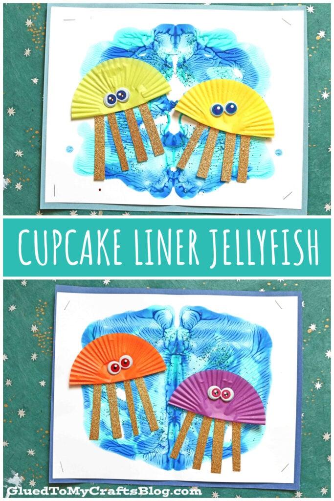 Cupcake Liner Jellyfish - Summer Kid Craft Idea