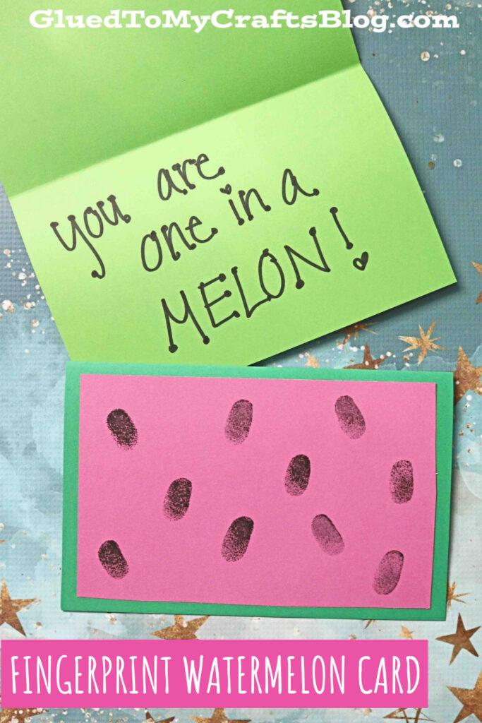 Fingerprint Watermelon Card Craft Idea For Kids