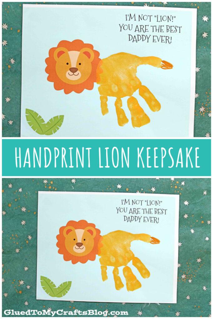 Handprint Lion Father's Day Keepsake Printable