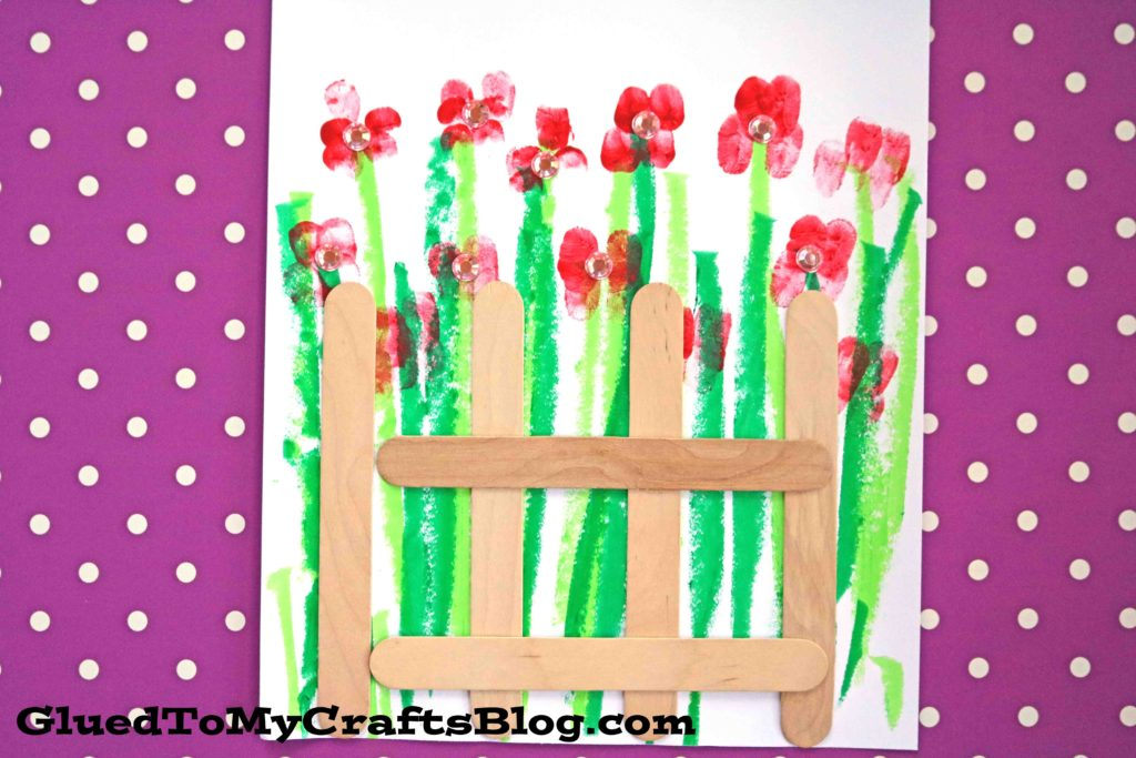 Mixed Media Fenced Garden - Kid Craft