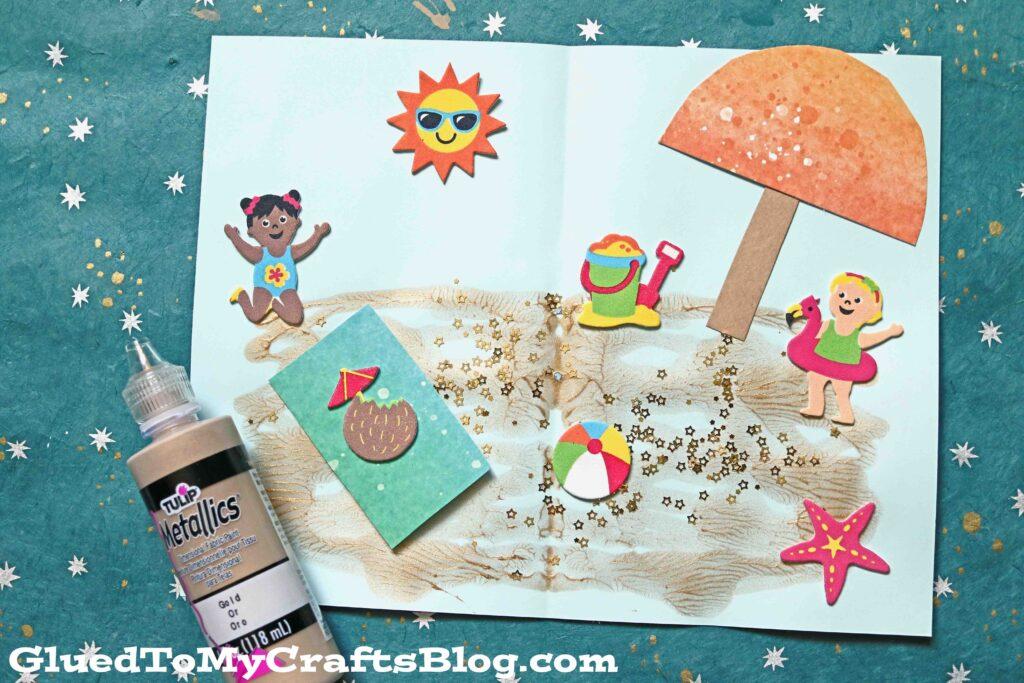 Paint Splat Beach Day - Summer Kid Craft Tutorial