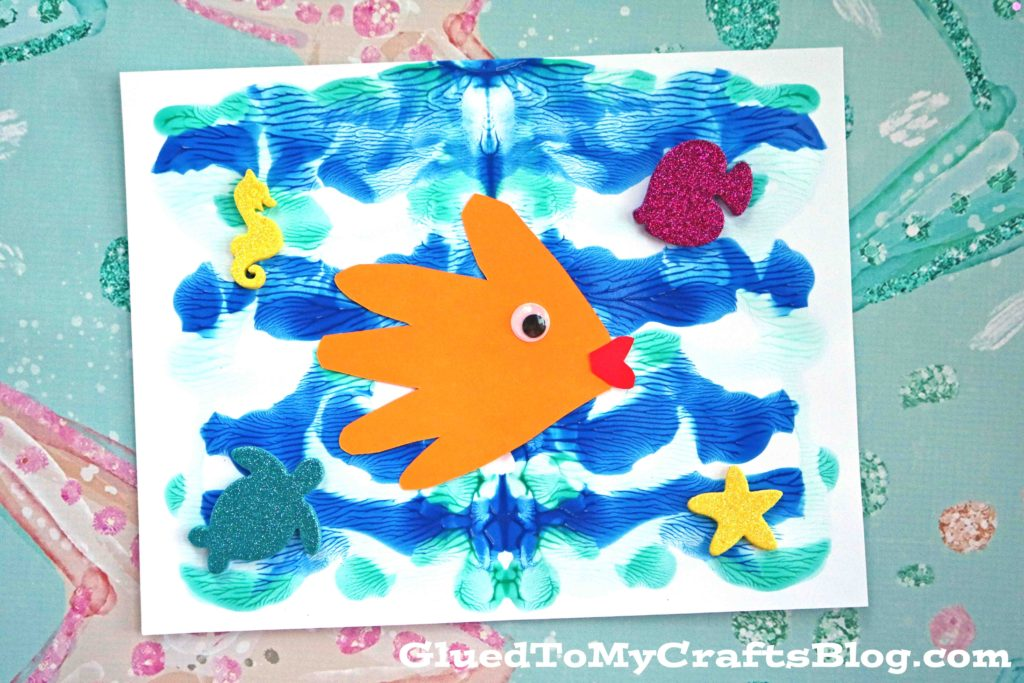 Paint Splat Ocean Scene - Kid Craft