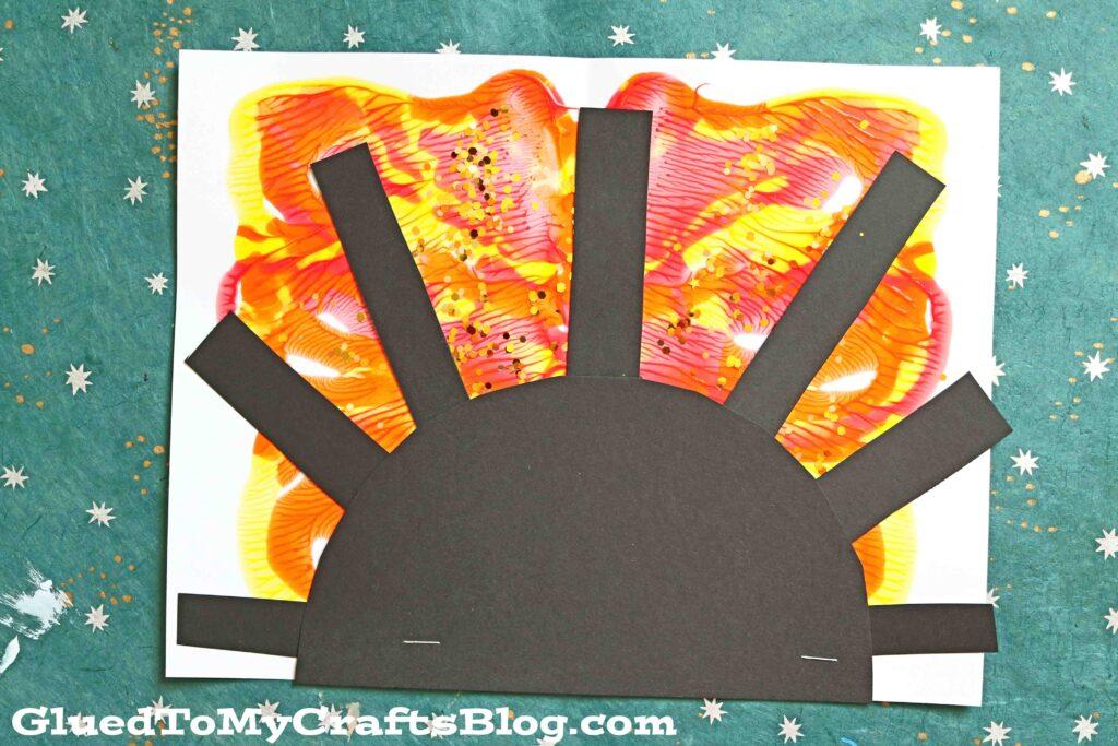 Paint Splat Sunsets - Kid Craft Idea