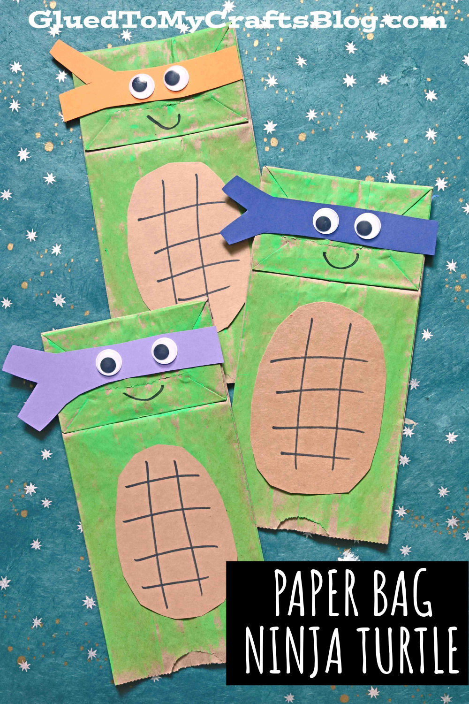 Paper Bag Ninja Turtles - Kid Craft