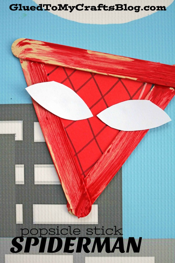 Popsicle Stick Spider-Man - Kid Craft Idea