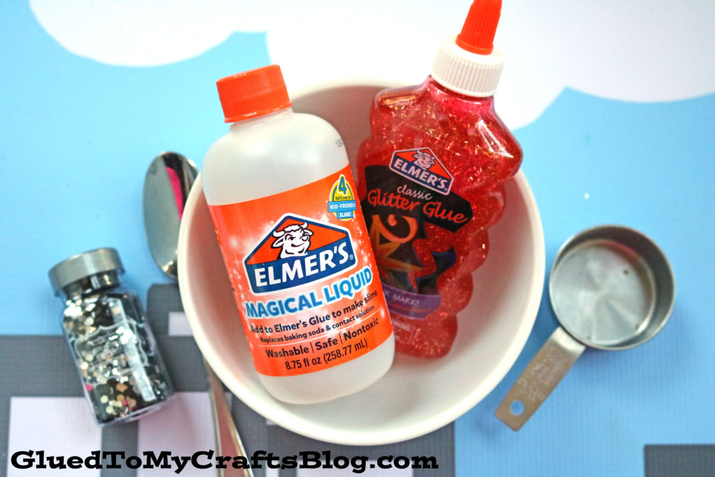 How-To Make Spiderman Inspired Slime - Kid Craft Tutorial