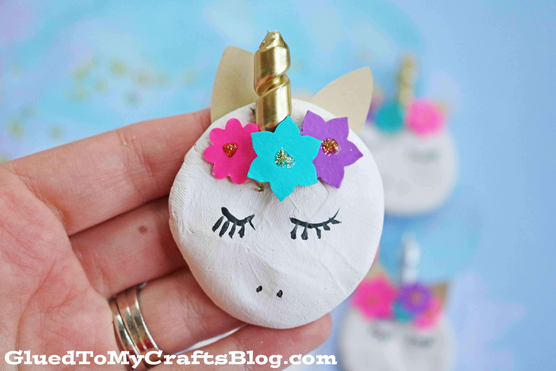 Clay Unicorn Magnets Kid Craft