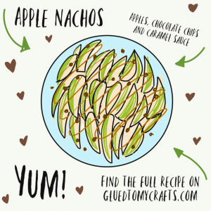 Apple Nachos Doodle From Glued To My Crafts