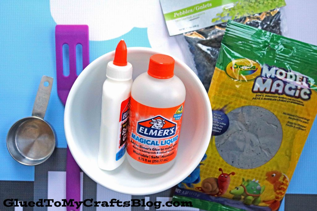 Clay Gravel Construction Slime Tutorial