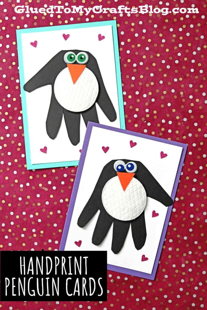 Paper & Handprint Penguin Cards - Kid Craft