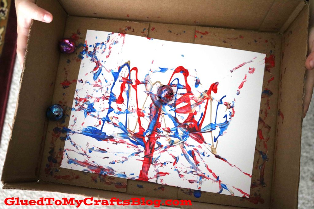 Marbled Fireworks Scene - Kid Craft