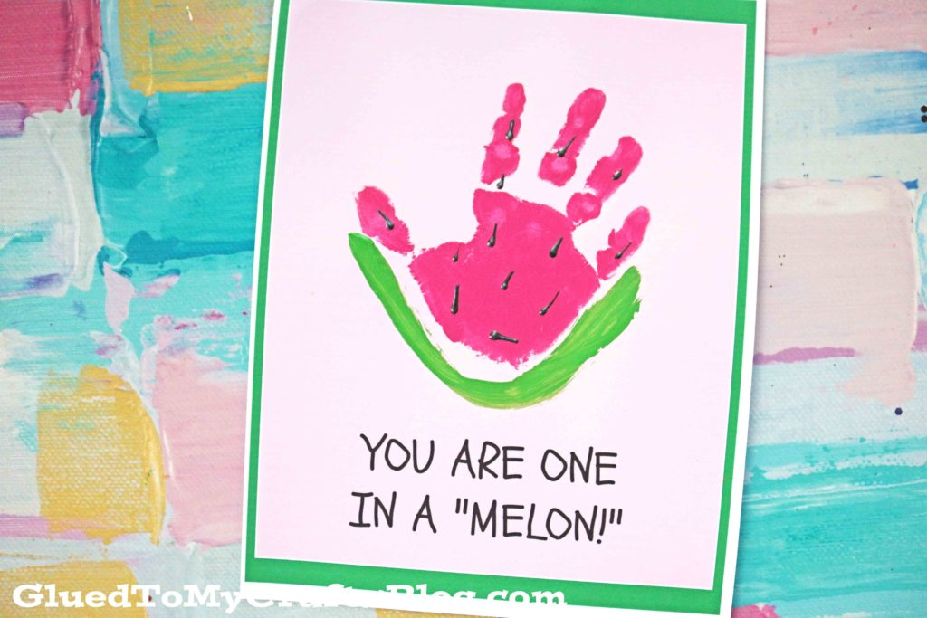 One In A Melon - Handprint Watermelon Keepsake