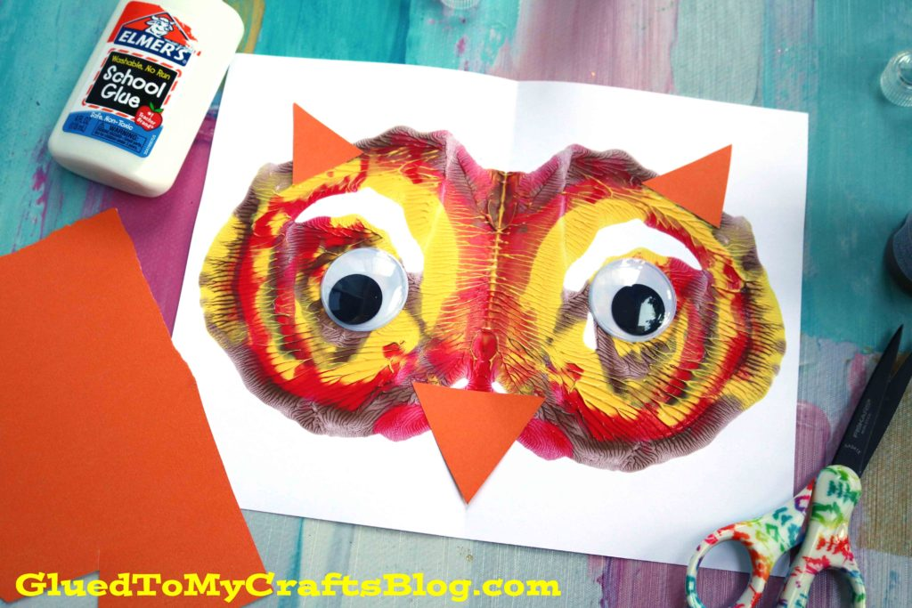 Paint Splat Owl Face - Kid Craft