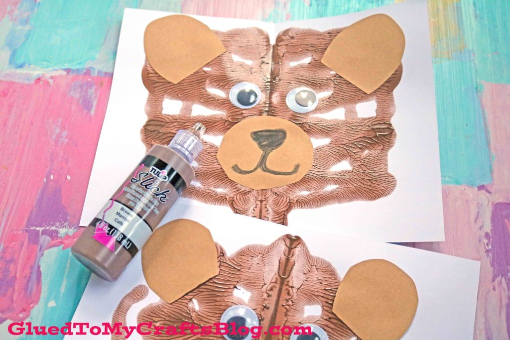 Paint Splat Teddy Bear - Kid Craft