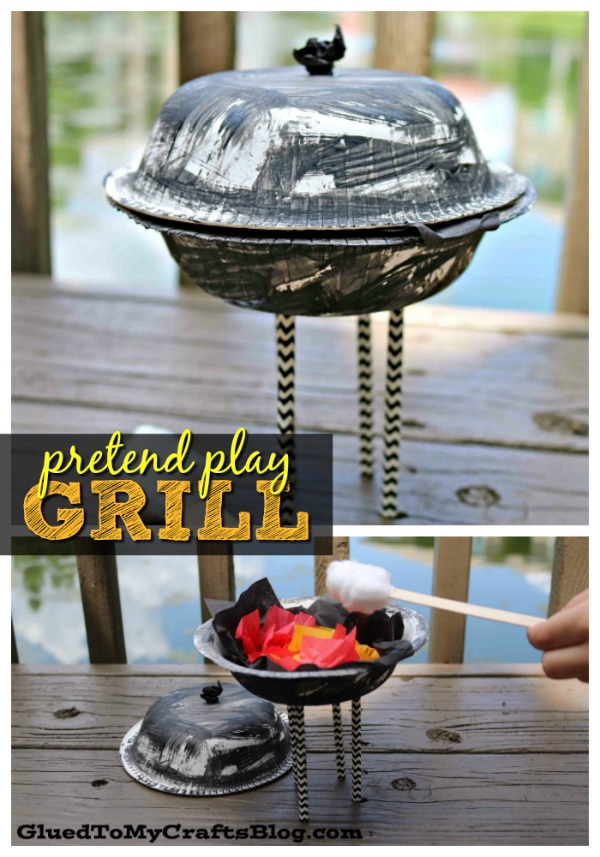 Paper Bowl Pretend Play Grill - Kid Craft
