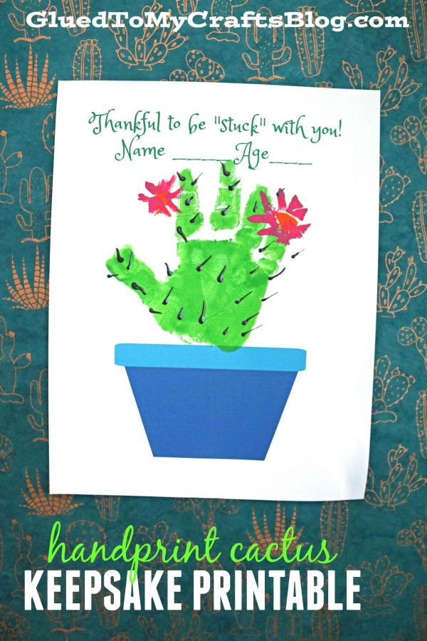 Stuck With You - Handprint Cactus Keepsake