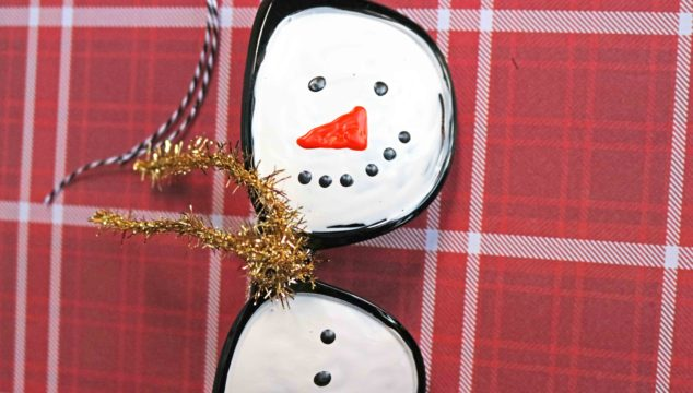 Sunglasses Turned Snowman Ornament