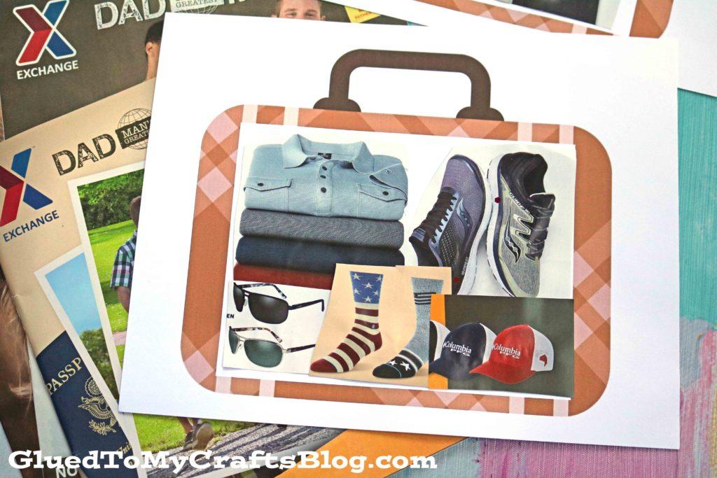 Mixed Media Suitcase Kid Craft Idea