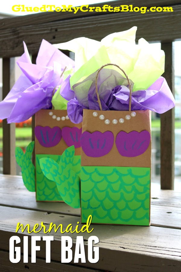 DIY Mermaid Gift Bags To Make For Your Next Party!