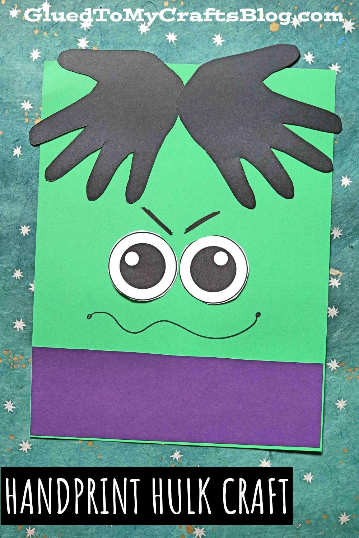 Super Simple Paper Handprint Hulk Keepsake Idea