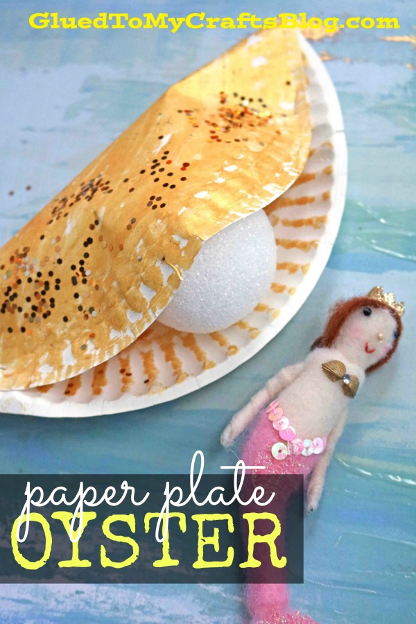 Paper Plate Oyster - Summer Kid Craft