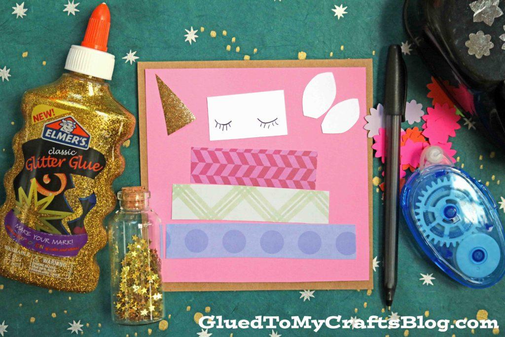 Paper Scrap Unicorn Cake Birthday Cards