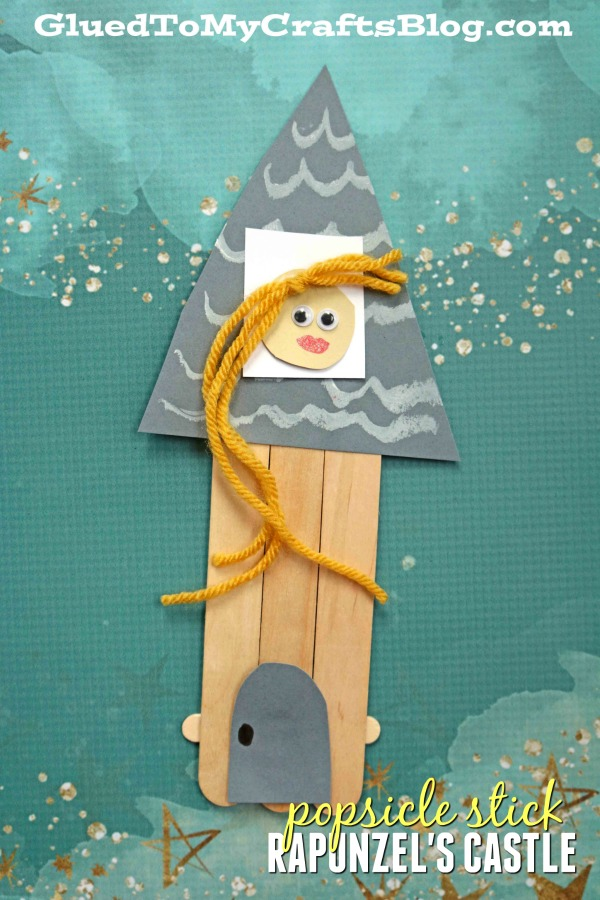 Popsicle Stick Rapunzel's Castle - Kid Craft