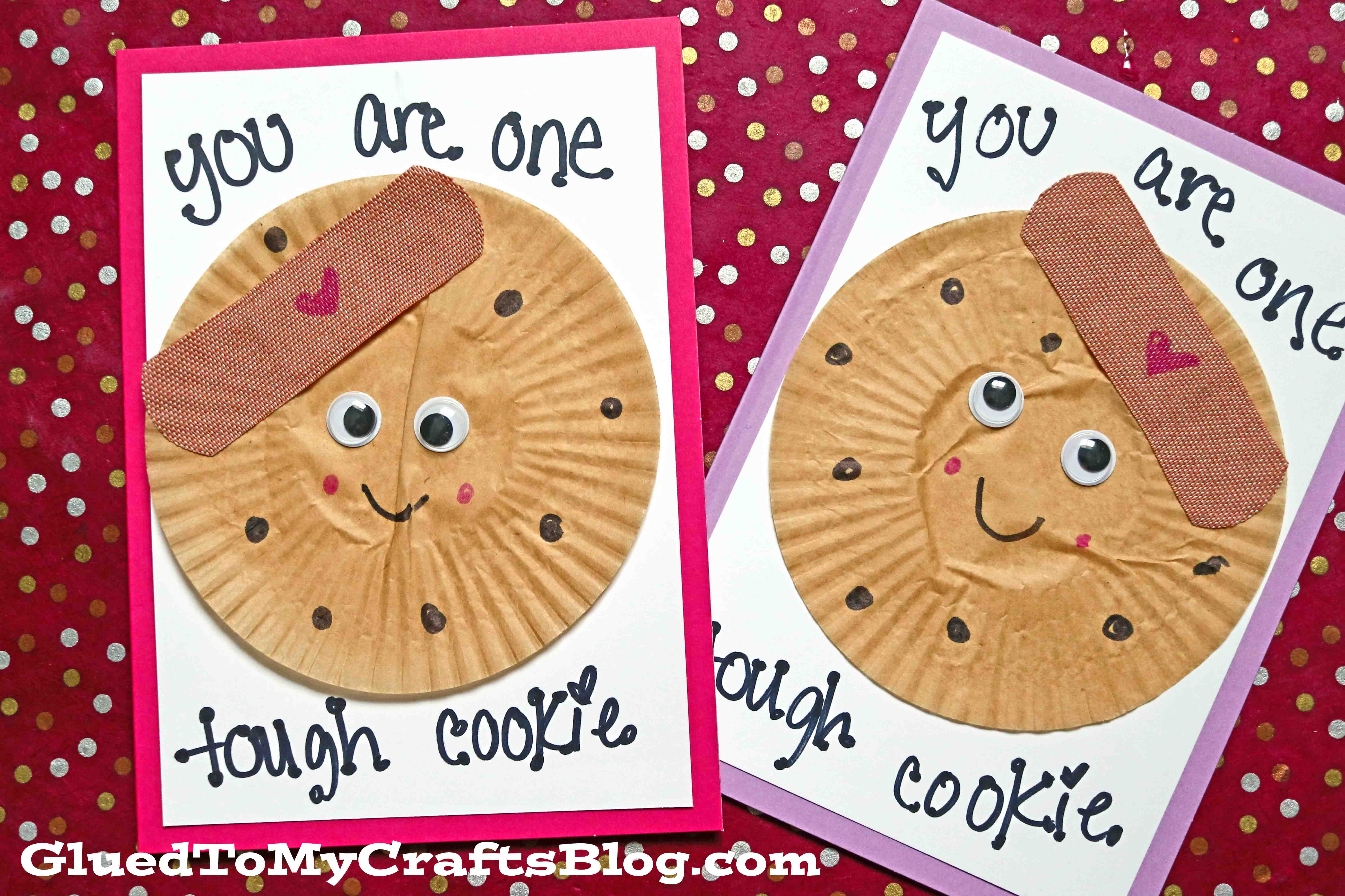 Cupcake Liner Tough Cookie Card Idea For Kids To Make